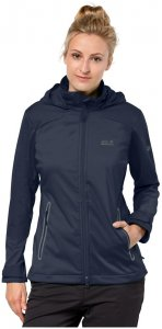 Jack Wolfskin Softshelljacke Frauen Cusco Valley Women M blau, Gr. M