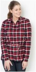 Jack Wolfskin Bluse Campbell River Shirt M rot, Gr. M
