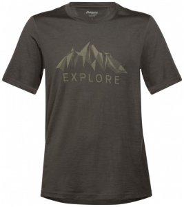 Bergans - Explore Wool Tee - T-Shirt Gr L schwarz