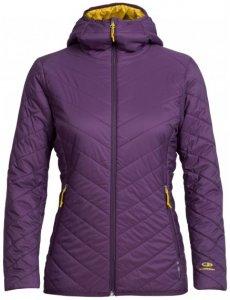 Icebreaker - Women's Hyperia Hooded Jacket - Wolljacke Gr L lila