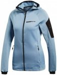 adidas - Women's Terrex Stockhorn Hooded Fleece Jacket Gr 34 grau/blau