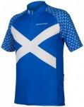Endura - Bedrucktes Coolmax Schottland Trikot - Radtrikot Gr XXL blau