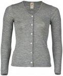 Engel - Damen Cardigan Feinripp - Wolljacke Gr 46 / 48 grau
