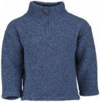 Engel - Kinder Pullover mit Reißverschluss - Merinopullover Gr 86 / 92 blau