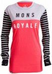 Mons Royale - Women's Boyfriend L/S - Longsleeve Gr S rot/grau/schwarz