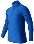 New Balance - N Transit Qtr Zip - Laufshirt Gr M;S blau/schwarz