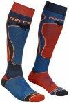 Ortovox - Ski Rock'n'Wool Socks - Skisocken Gr 39-41 blau/rot/schwarz