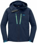 Outdoor Research - Ferrosi Summit Hooded Jacket Gr L;S blau/schwarz;schwarz