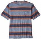 Patagonia - Squeaky Clean Pocket Tee - T-Shirt Gr M grau/blau