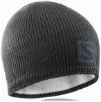 Salomon - Logo Beanie - Mütze Gr One Size schwarz/grau
