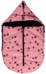 Smafolk - Kid's Small Sleeping Bag Apples - Fußsack Gr One Size  Rosa/Rot