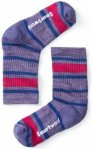 Smartwool - Kid's Striped Hike Light Crew - Trekkingsocken Gr L;M;S rot/rosa;sch