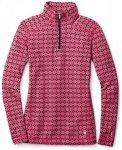 Smartwool - Women's Merino 250 Baselayer Pattern 1/4 Zip Gr L;M;S;XS rot/lila;gr