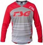 TSG - TP2 Jersey L/S - Radtrikot Gr S grau/rot
