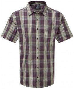 Sherpa - Seti S/S Shirt - Hemd Gr L grau/schwarz