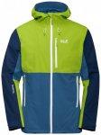 Jack Wolfskin - Eagle Peak Jacket - Regenjacke Gr S blau/grün