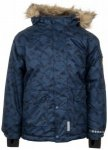Minymo - Kid's Snow Jacket Herringbone All over Print Gr 116 blau/schwarz