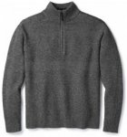 Smartwool - Ripple Ridge Half Zip Sweater - Merinopullover Gr L schwarz/grau