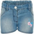 Minymo - Kid's Denim Shorts Flower - Shorts Gr 104;110;122;158;164 blau/grau