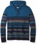 Smartwool - Hidden Trail Striped Hoody Sweater Gr L;S schwarz/grau