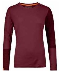 Rock n Wool Long Sleeve W dark blood Gr. XS