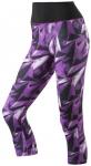 ADIDAS Damen Tight Workout 3/4 High Rise AOP, Größe XS in Lila/Schwarz