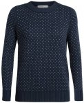 ICEBREAKER Merino Damen Pullover Waypoint Crewe Sweater, Größe L in Midnight N