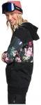 "ROXY Damen Sweatshirt mit Kapuze ""Liberty Hoodie"", Größe L in TRUE BLACK BLOOM"