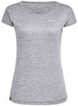 SALEWA Damen T-Shirt Puez Melange Dryton, Größe 38 in Quiet Shade Melange