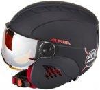 Alpina Carat LE Visor HM Helmet Kinder black-red matt 48-52cm 2018 Ski- & Snowbo