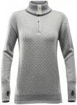 Devold Slogen Zip Neck Damen grey melange/offwhite S 2019 Langarmshirts, Gr. S