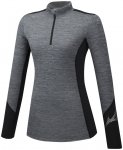Mizuno Virtual Body G2 Half-Zip Langarmshirt Damen grau L 2020 Winter Laufshirts