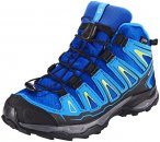 Salomon X-Ultra Mid GTX Schuhe Kinder blue yonder/bright blue/granny green EU 37