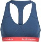 Icebreaker Sprite Racerback Bra Women prussian blue/poppy red L 2018 Merino BH's