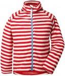 Didriksons 1913 Monte Jacket Kinder chili red simple stripe 110 2019 Fleecejacke