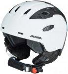 Alpina Snowmythos Helmet white-silver-blue matt 52-56cm 2018 Ski- & Snowboardhel