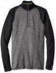 Smartwool Merino 250 Baselayer Pattern 1/4 Zip Shirt Men Black M 2018 Unterhemde