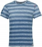 Chillaz Men's T-Shirt Rigi Circled indigo light blue stripes S