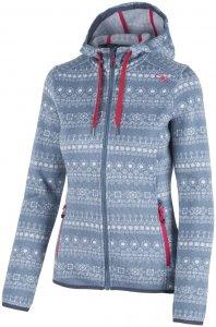 CMP Woman Fix Hood Printed Fleece Jacket 3H63276 Damen Fleecejacke
