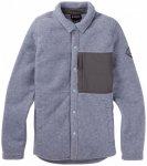 Burton - Women's Hearth Snap Shirt - Fleecejacke Gr L;M;S;XL;XS lila/rot;grau