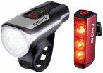 Sigma - Aura 80 USB K-Set Blaze RL - Fahrradlampen-Set schwarz/grau