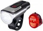 Sigma - Aura 80 USB K-Set Nugget II - Fahrradlampen-Set schwarz/grau