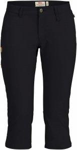 Fjällräven Abisko Capri Trousers Frauen Gr. 36 - Trekkinghose - schwarz