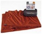 Cocoon Merinowolle / Seide Travel Blanket dark terracotta
