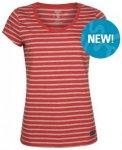 Elkline marina Damen T-Shirt redmelange-greymelange 34