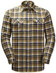 Jack Wolfskin Bow Valley Shirt Men golden amber checks XXL