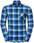 Odlo Men Shirt L/S Nikko Check energy blue - diving navy - nile blue - check L