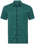 Odlo Men Shirt S/S Nikko Check energy blue - diving navy - nile blue - check L