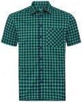 Odlo Men Shirt S/S Nikko Check energy blue - diving navy - nile blue - check M