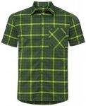 Odlo Men Shirt S/S Nikko Check four leaf clover - acid lime - climbing ivy - che